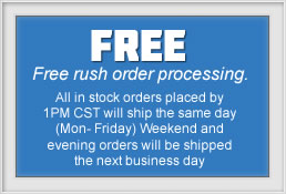 Free Rush Order Processing for all Snow Blower Orders.