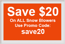 Save $20 on any Snow Blower order 11/25-30. Black Friday Snow Blower Sale. Cyber Monday Snow Blower Sale.