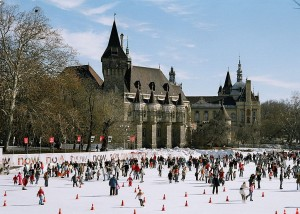 """Mujegpalya Ice Rink"" by User:Themightyquill - Own work. Licensed under CC BY-SA 2.5 via Wikimedia Commons - https://commons.wikimedia.org/wiki/File:Mujegpalya_Ice_Rink.jpg#/media/File:Mujegpalya_Ice_Rink.jpg"